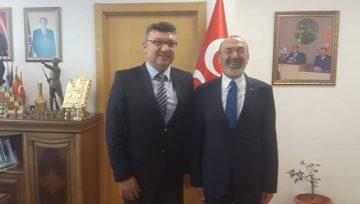 Başkanımız Ömer Ali ŞENOL MHP Genel Başkan Yardımcısı Sn. Yaşar YILDIRIM'ı makamında ziyaret etti.